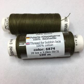 Barkonie Baumwolle poliert 30  20 tex x 3 Nm 50/3 6874